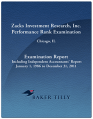 Zacks Performance Rank Examination Report