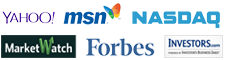 Yahoo, MSN, NASDAQ, MarketWatch, Forbes, Investors.com - Financial Market Logos